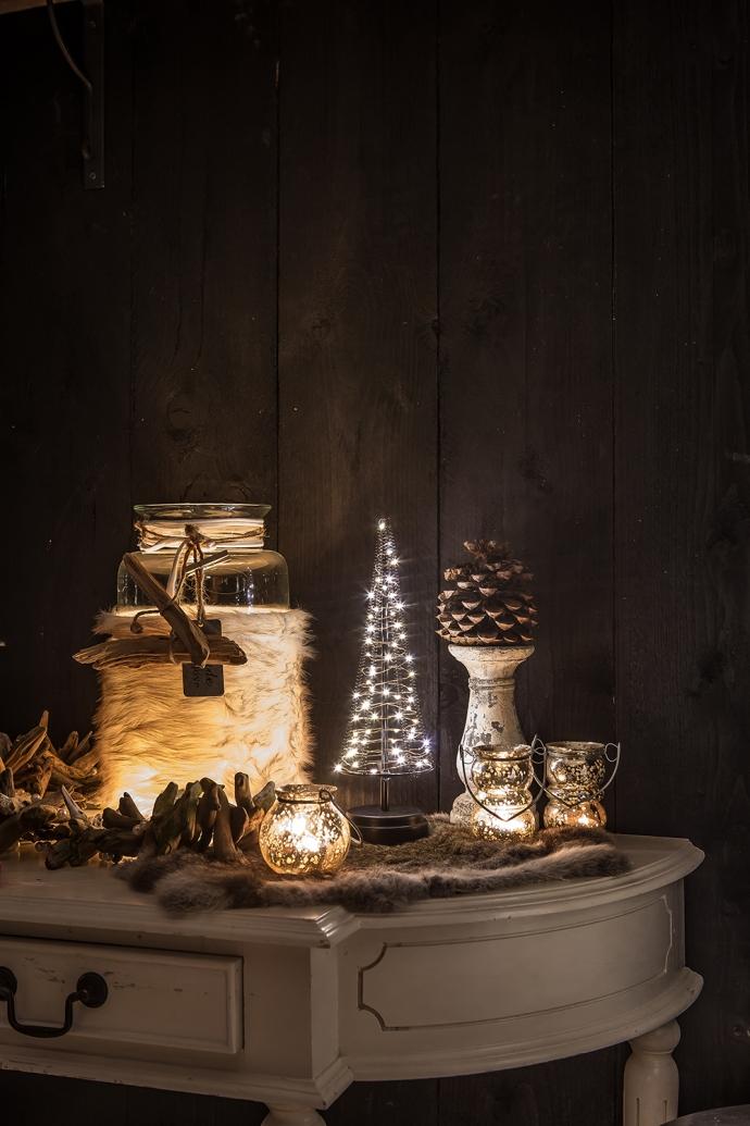 Santa Tree warm-wit M 32 cm hoog 60 LED