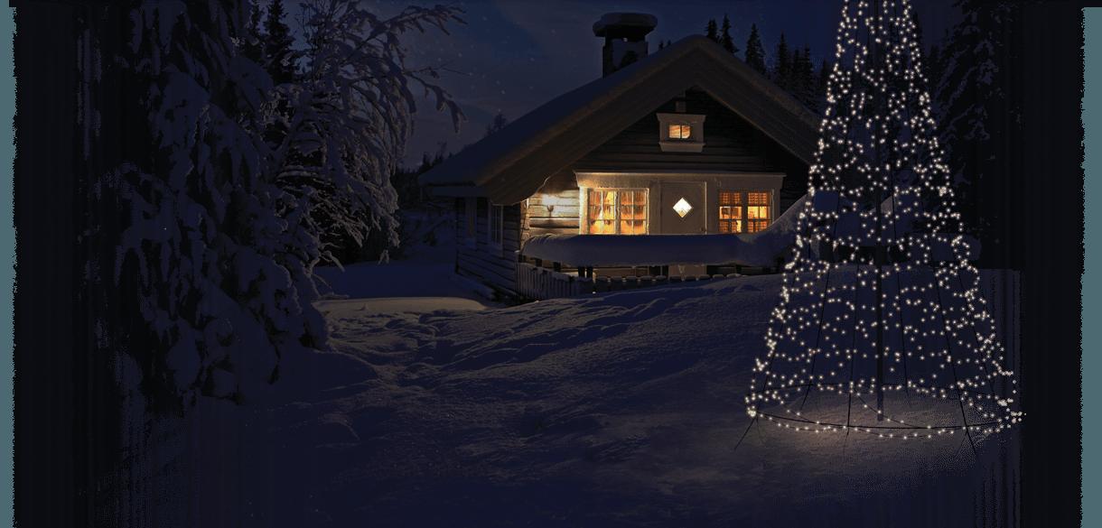 Fairybell vlaggenmast kerstverlichting